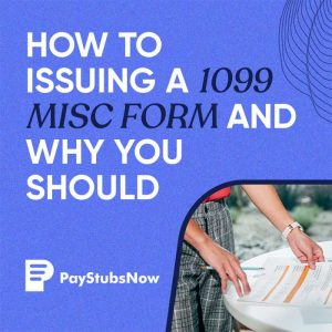 issuing 1099 MISC form