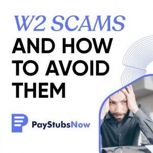avoid W2 scams