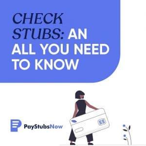 check stubs