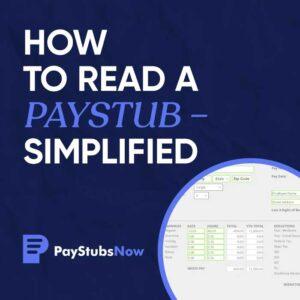 read paystub simplified