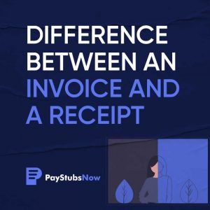 difference invoice and receipt