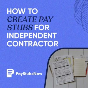contractor pay stub