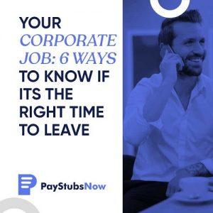 corporate job