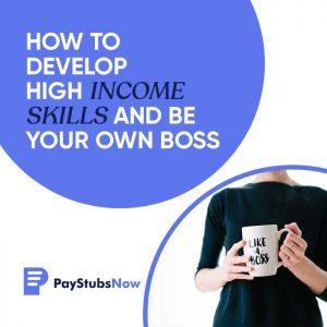 develop high income skills