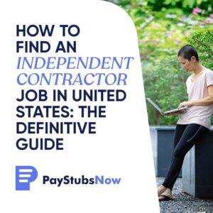 independent contractor job USA