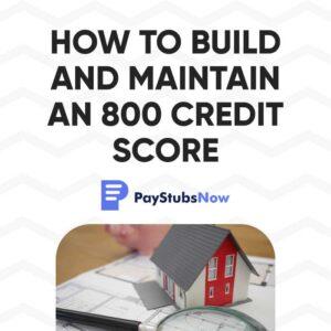 maintain 800 credit score