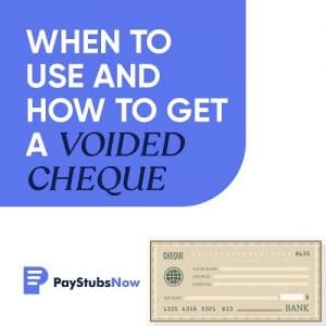 voided cheque