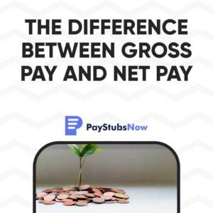 gross pay - net pay