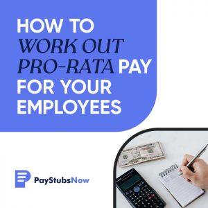 pro rata pay