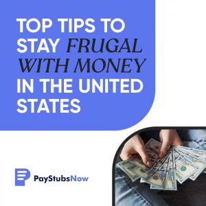 stay frugal with money