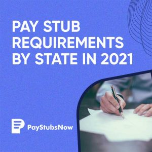 Pay Stub Requirements