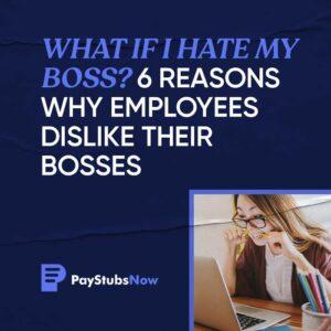 I hate my boss