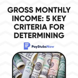 gross monthly income