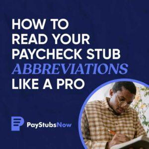 paycheck stub abbreviations